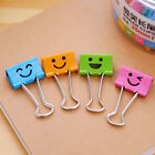 10 Pcs Smile Metal Clip Cute Binder Clips Album Paper Clips Stationary Office