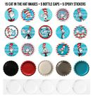 Cat In The Hat Pre-cut 1 Inch Bottle Cap Images 3 Options