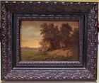 Great Antique 19th c French Barbizon Oil Painting Signed Listed M. Donat N/R!