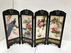 Arts Crafts Gift Desktop decoration Chinese Vintage Glass Antique mini 4Panel Fo