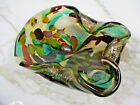 Murano Glass Tutti Frutti Gold Foil Bowl Hollywood Regency Dino Martens