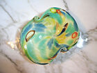 Vintage Murano Glass Dino Martens Tutti Frutti Gold Foil Bowl Hollywood Regency