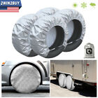 Waterproof Tire Covers Set Of 4 WheelTyre RV Trailer Camper Sun Protector 28