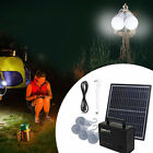 110V Solar Panel Lighting Kit Solar Charger Generator Power Inverter 4 LED Bulb