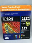 Epson 252 252XL Cartridges Value Combo Pack  4 count Exp 2020 2021 New