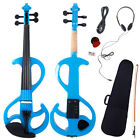 New 4 4 8 Pattern Purple Practice Electric Silent Violin with Case Set