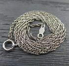 Vintage Sterling Silver Prince Of Whales Roped Chain Link Necklace 1825 inches