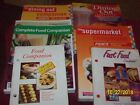 Lot of 6 Companion Books Weight Watchers Dining Out Supermarket Fast Food Vintag