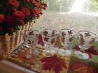 Vintage Libbey frosted gold leaf  Wine glasses, Stemware, fall wedding 4-PC set