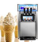 Commercial small desktop soft ice cream making machine low power 3 Flavor Fast