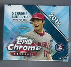 2 Boxes 2018 Topps Chrome Hobby Jumbo Factory Sealed 5 AUTOGRAPHS
