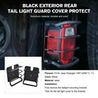 2pc Rear Tail Light Lamp Guard Cover Protect Black For Jeep Wrangler TJ YJ 87-06
