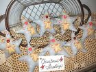 8 Handmade Country Christmas Decor fabric Gingerbread Stars ornaments Home Decor