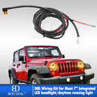 DRL Wire Harness w Fuse Adapter For Headlight Add on Halo Daytime Running Light