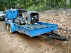 Putzmeister trailer mounted cement / insulation mixer and Pump, RUNS GREAT!