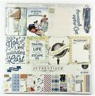 Authentique EXPLORE 12x12 Collection Kit Papers + Stickers Travel Journey Trip