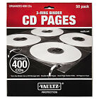 Vaultz Two Sided CD Refill Pages for Three Ring Binder 50 Pack VZ01415