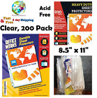 200 Sheet Clear Plastic Page Protectors Document Paper Cover Office Supplies New