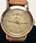 Vintage Mido Multifort Grand Luxe Super-Automatic Solid 14K Gold Case 17 Jewels