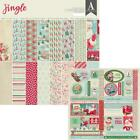 Authentique JINGLE 12x12 Collection Kit Christmas Papers + Accent Die cuts