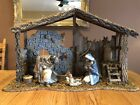 Lladro 4 Piece Nativity Set. Joesph, Mary, And Jesus, Stable. Retired And Rare!
