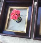 Pair Of Antique Mahogany Gilt Wood Picture Frames