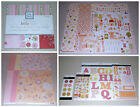 Baby Girl Scrapbook Kit Lot Paper Stickers Brads Die Cuts Carta Bella SEI