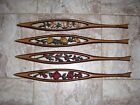 MIDWEST Mid Century Modern MCM  metal wall deco plaque set of 4 50's or 60s