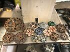 Lot of 16 Vintage Industrial Machine Age Water Valve Handles Steampunk Art used