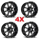 20 20X9 6X1397 6X135 FUEL MAVERICK GLOSS BLACK MILLED D61020909857 WHEELS RIMS