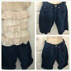 Vintage high waist Mom jean shorts dark boyfriend Size 1 lee