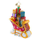 Christopher Radko - Loaded With Cheer - Sleigh With Gifts Ornament - 1017066