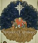 Christmas Nativity wreath Large 26 inches FREE SHIPPING