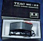 TEAC MC-22 STEREO DYNAMIC MICROPHONE WITH LEAD & BOOKLET MADE IN JAPAN
