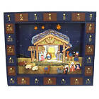 New Kurt Adler 1675 Nativity Advent Calendar 24 Magnetic Multicolor Set of 25