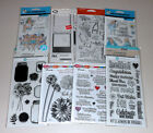 Huge Lot of Clear Stamps Art Impressions Hampton Art Fiskars Stampendous