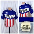 Mens Brooklyn Cycling Jersey Sz 2XL Red White Blue KoolKnit USA Made XXL