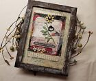 Vintage Style Collage 5x7 FRAMED, Mixed Media Home Decor, Country Shabby Decor