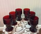 Anchor Hocking Ruby Red Georgian Footed Glasses