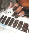 EXCLUSIVE 3D Logo Nail Polish Strips Nail Art Stickers Self Adhesive Decals