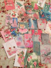 Christmas Die Cuts Gift Tags 45 Shabby Pink Green Blue Vintage Style Mixed Media
