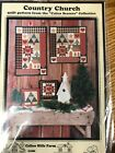 COUNTRY CHURCH wall quilt pattern Piecing with heart star applique