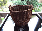Early Antique Hand-Woven Gathering Primitive BASKET 9