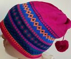 NWT VINTAGE CONTE OF FLORENCE HAT BEANIE WOOL WINTER Pink Multicolor Crazy Style