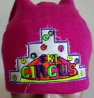 CONTE OF FLORENCE HAT BEANIE VINTAGE WOOL SKI CURCUS WINTER POM KNIT PINK FANCY