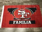 San Francisco 49ers Familia Flag 3 x 5 Banner Quest For 6 Red Bandanna