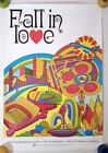 FALL IN LOVE KANSAS CITY 1970s VINTAGE TRAVEL POSTER MID-CENTURY PSYCHEDELIC ART