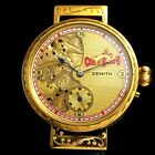 Vintage Men's Wrist Watch ZENITH Gold Mechanical Noble Design Mens Wristwatches