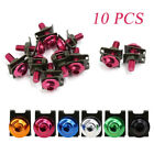 10x M6 6mm Fairing Mounting Bolts Spire Speed Fastener Clips Screw Spring Nuts