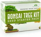 Urban Sprout Bonsai Starter Tree Kit Grow Your Own Trees from Seeds 5 Species